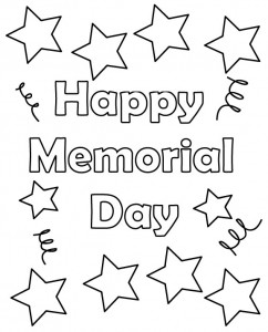 Memorial Day 2018 Coloring Pages