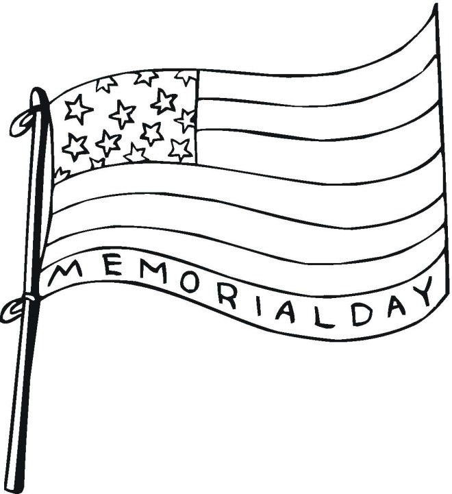 Memorial Day Flag Coloring Sheets