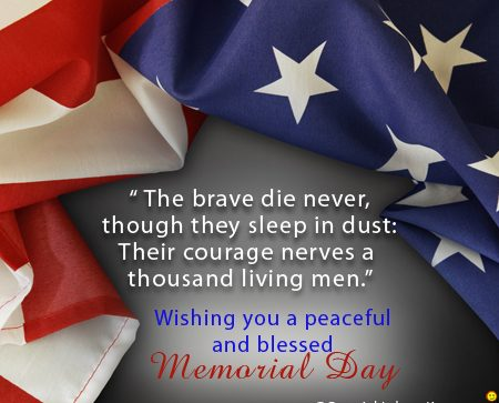 Memorial Day 2018 Greetings