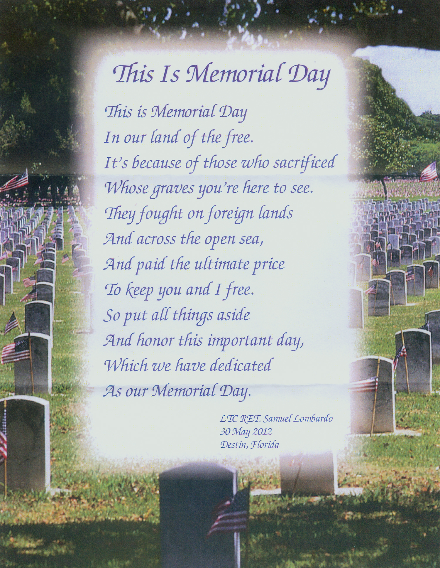 Memorial Day Poetry