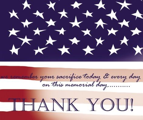 Memorial Day Thank You Sayings