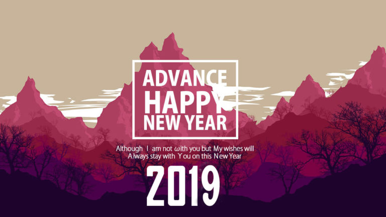 Advance Happy New Year 2019 Photos
