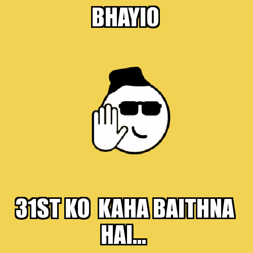 New Years Hindi Meme