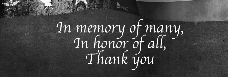 Memorial Day Banner Black And White