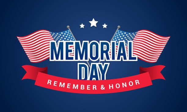 Memorial Day Banner Clip Art