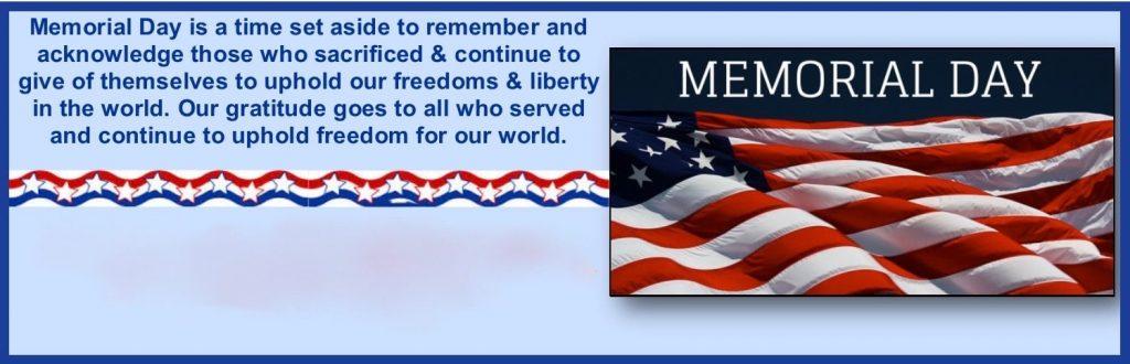 Memorial Day Banner Photos